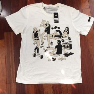 ADIDAS McBess Workout T-Shirt Urban Artist Series